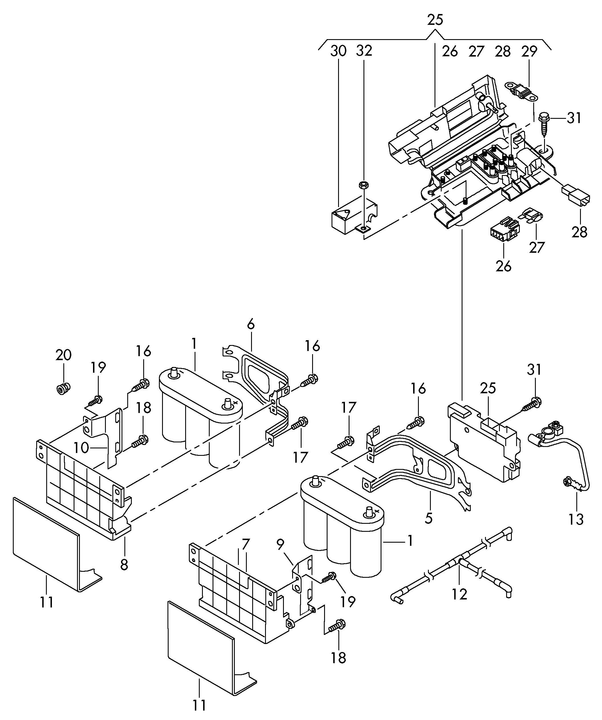 Volkswagen Eos Battery Tray Battery Bracket Bracket