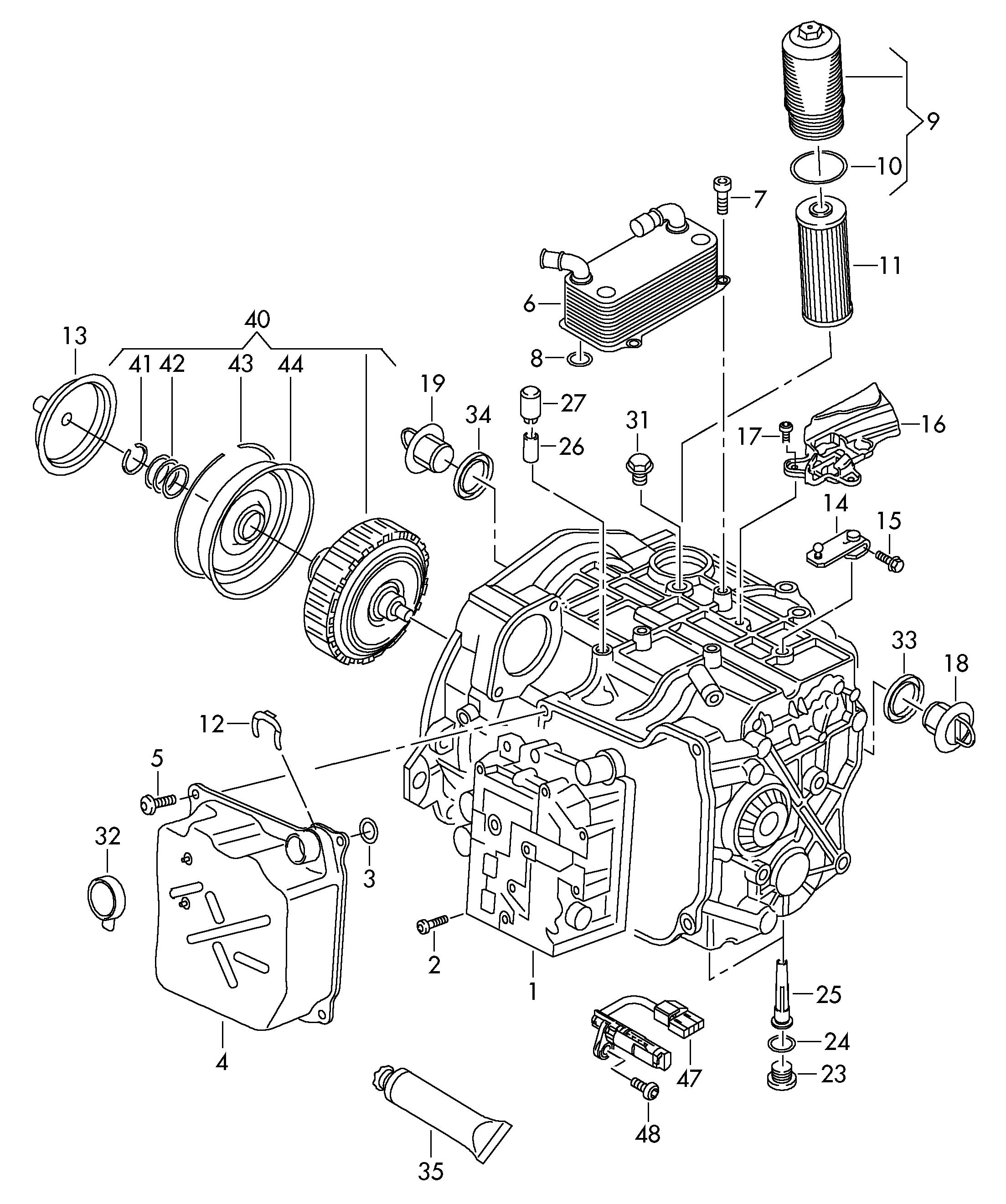 Mechatronic With Software Gear Oil Cooler Clutch For 7