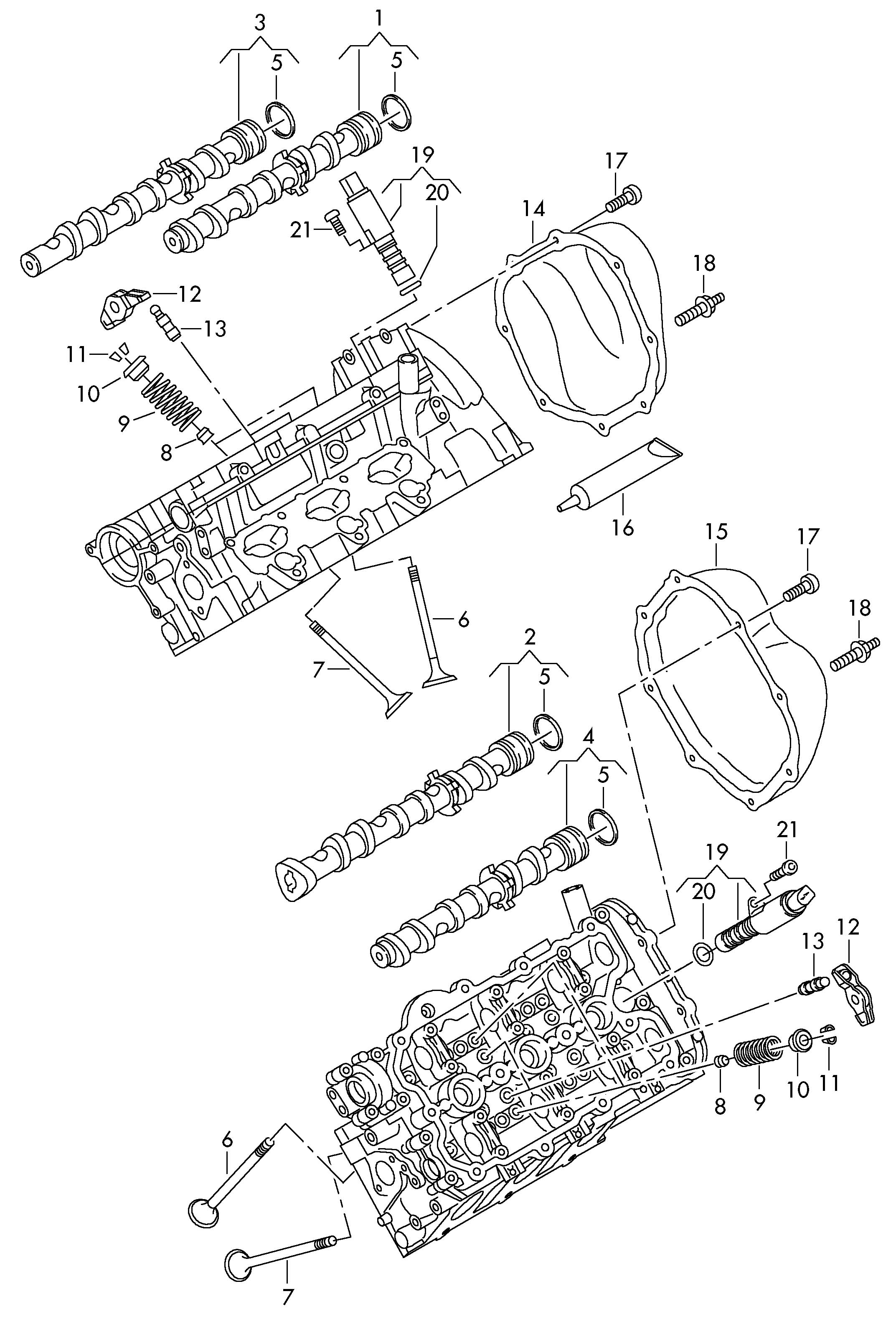 Volkswagen Touareg Valve Guide Seal As Required Use Also