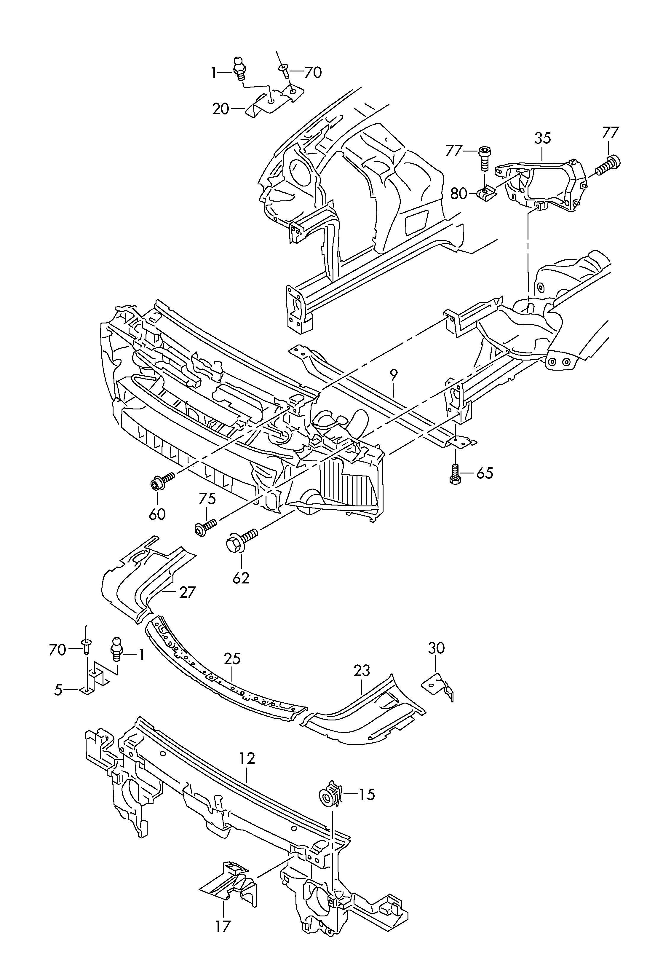 Volkswagen Touareg 3 6l 6 Cylinder Deformation Element