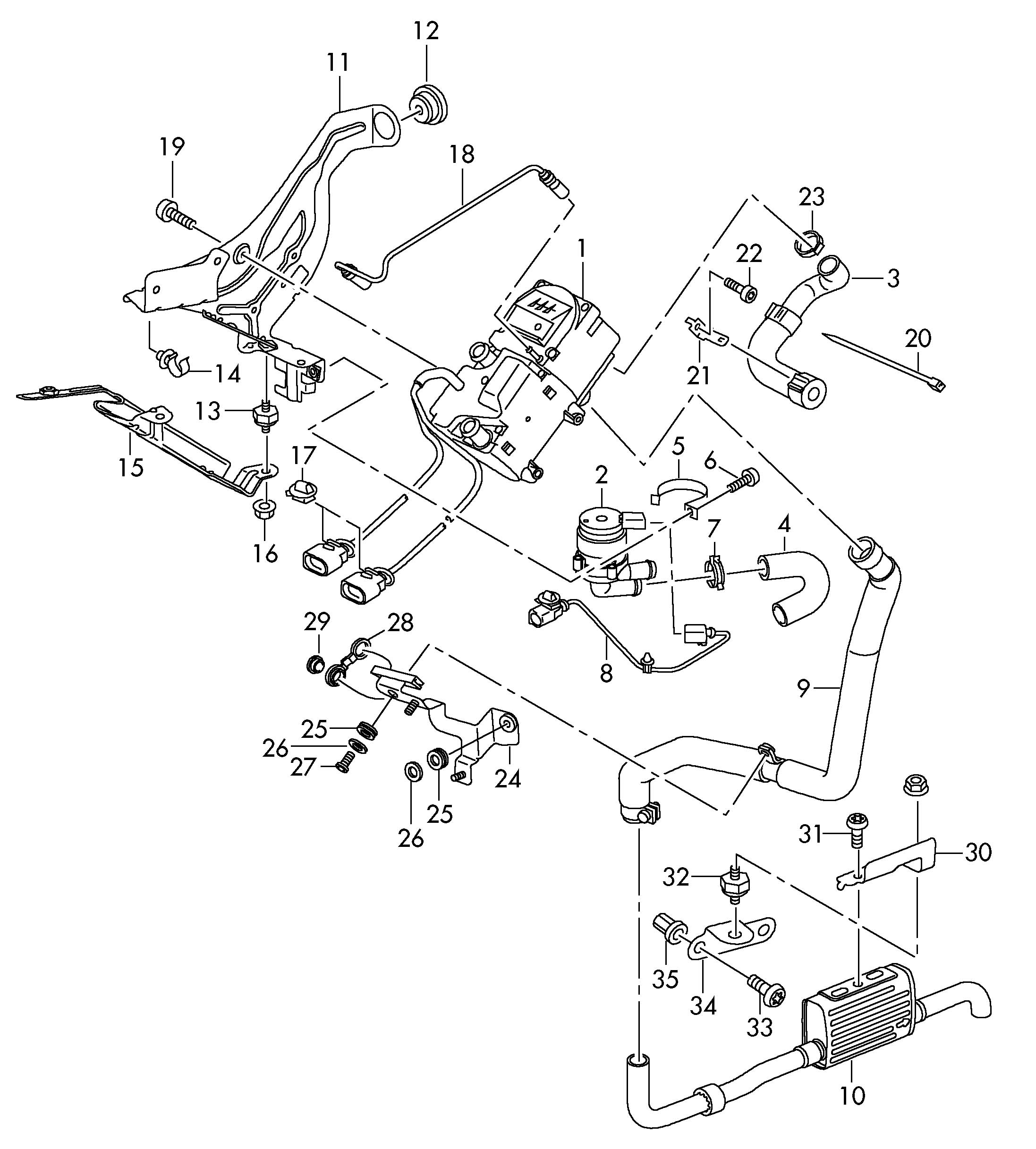 Volkswagen Touareg Additional Heater For Circuit Stationary Heater For Circuit Bracket