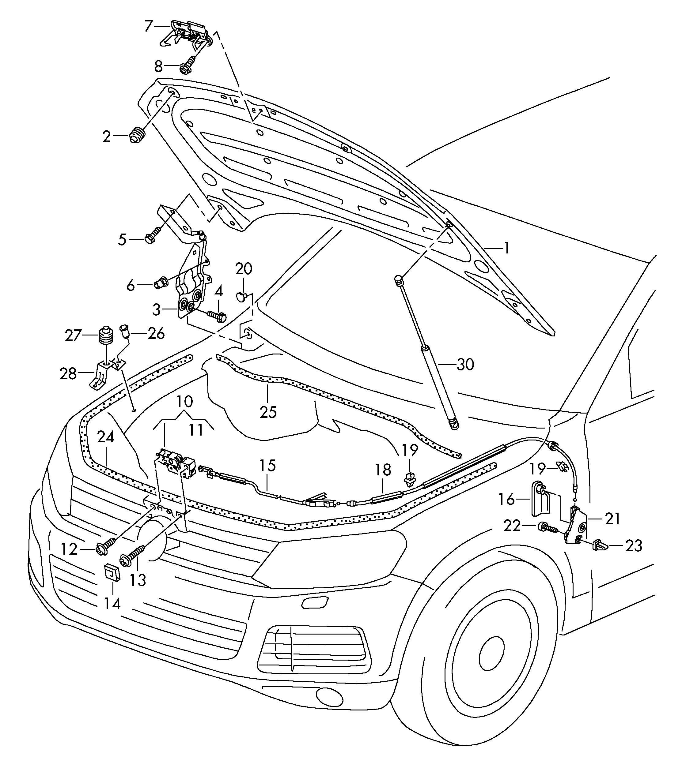 Volkswagen Touareg Bolt Hex Hd Combi Self Locking