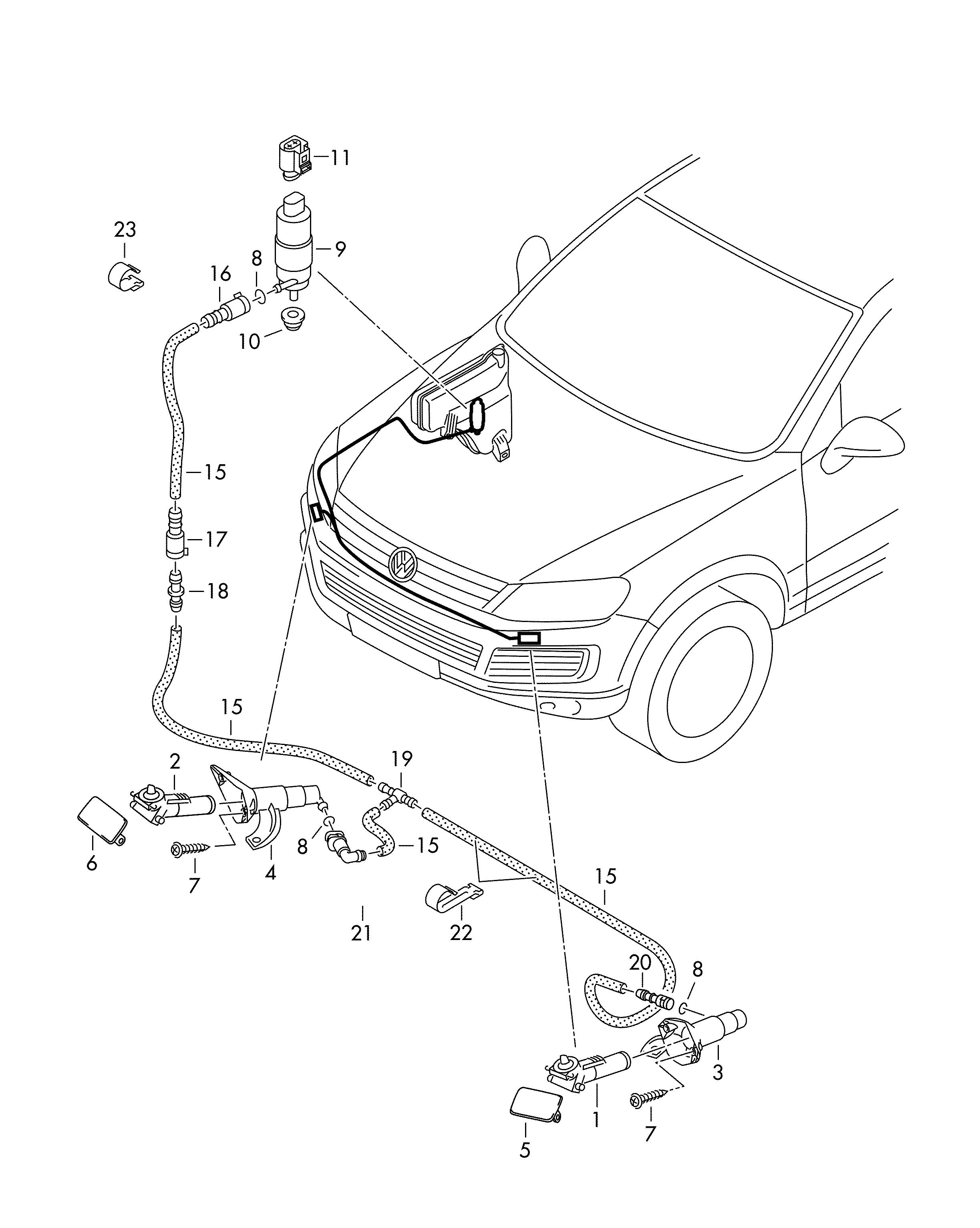 Volkswagen Touareg Connecting Piece When Using