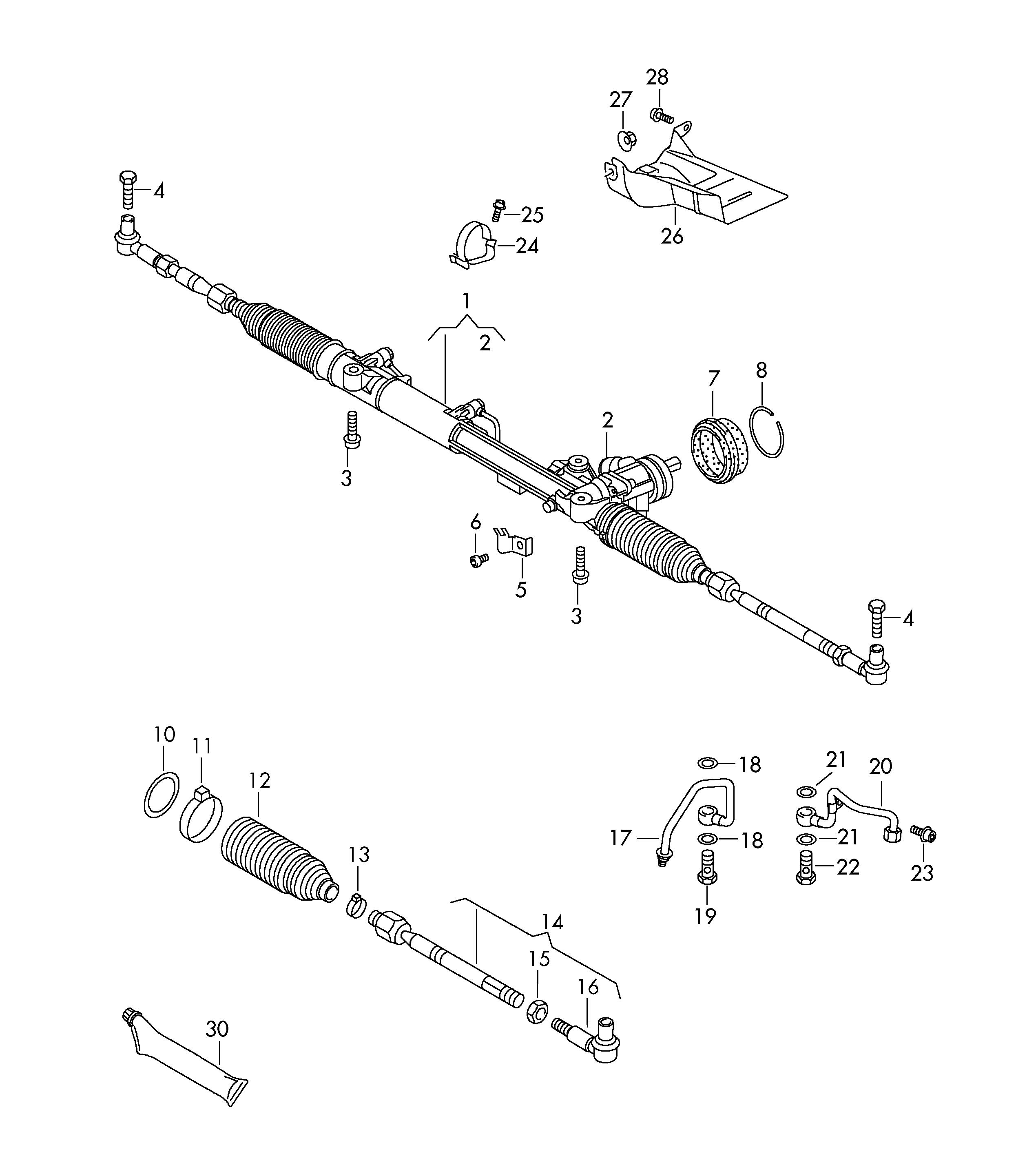 Volkswagen Tie Rod End Tie Rod Knockle