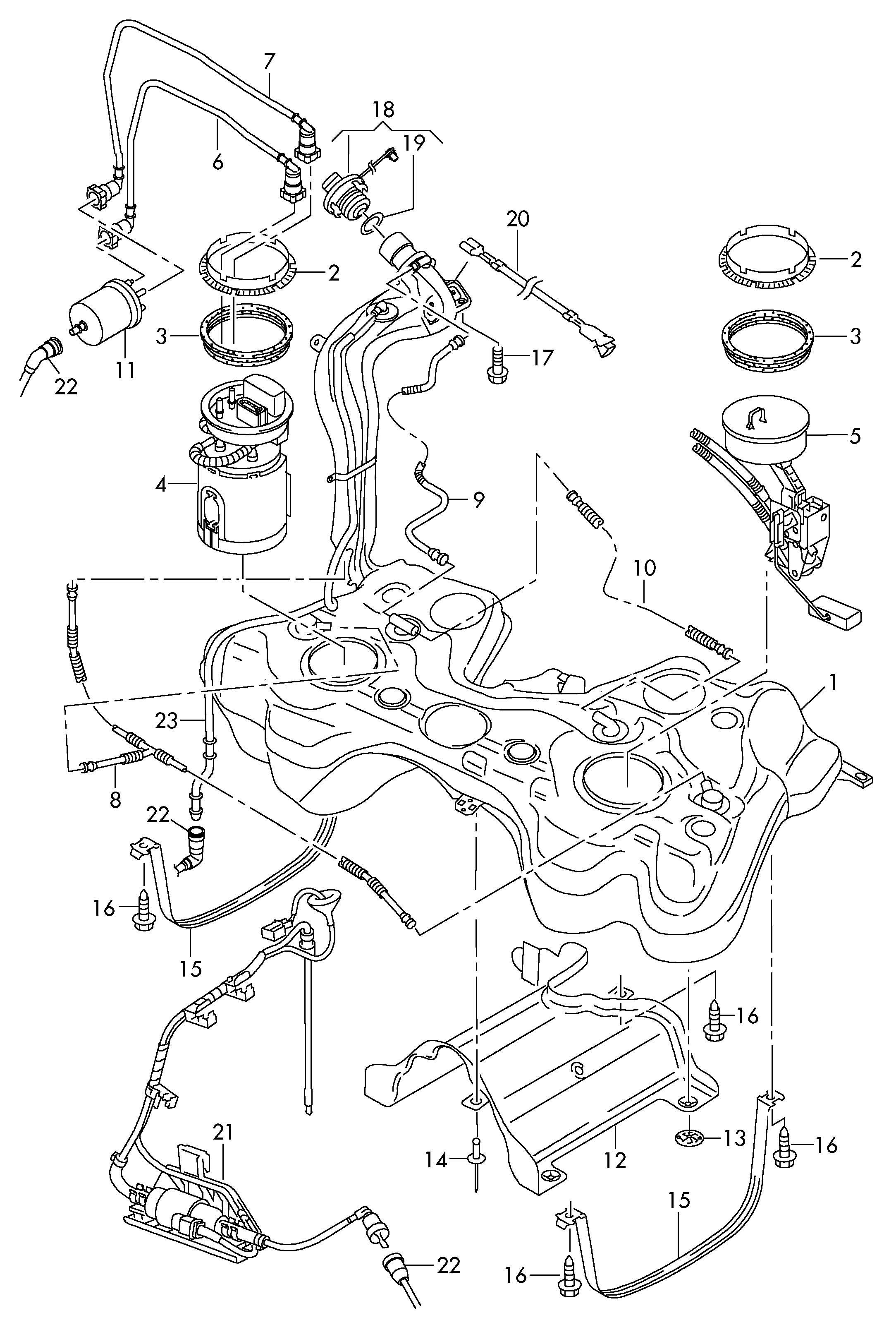 Volkswagen Golf Fuel Line Fuel Pipe