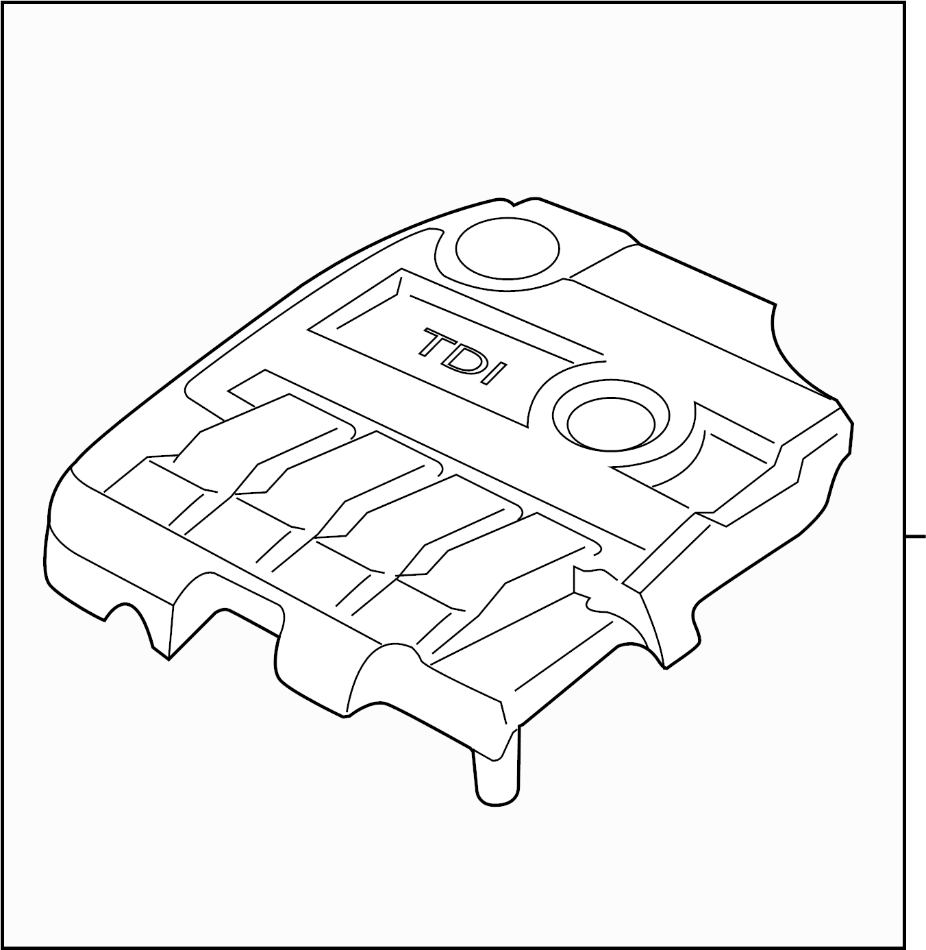 Volkswagen Golf Cover For Intake Manifold