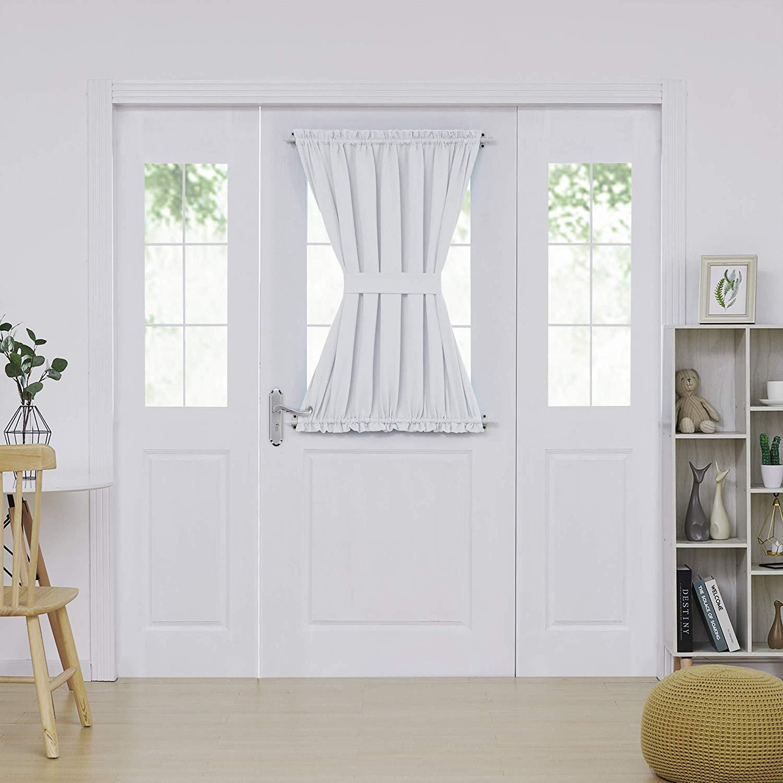 window treatments for doors with half