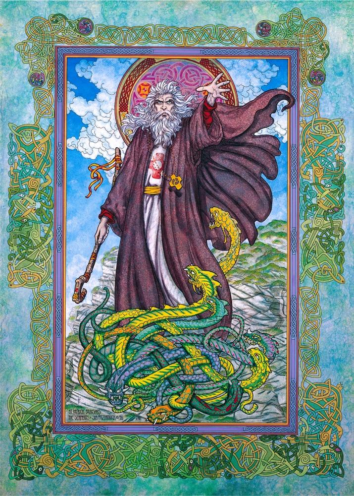 The Celtic Tarot Courtney Davis 9780850309201 Amazon: ST. PATRICK BANISHES THE SERPENTS