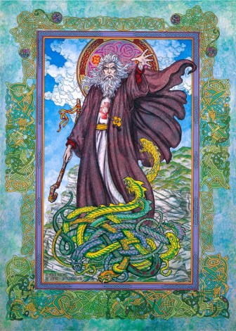St. Patrick, Saint Patrick, Saint Patrick banishes the serpents, patrick's day, st.paddy's, Paddy's day, Patrick's day, Irish patron saint, Irish myth, irish legend, irish mythology, irish, ireland, jim fitzpatrick