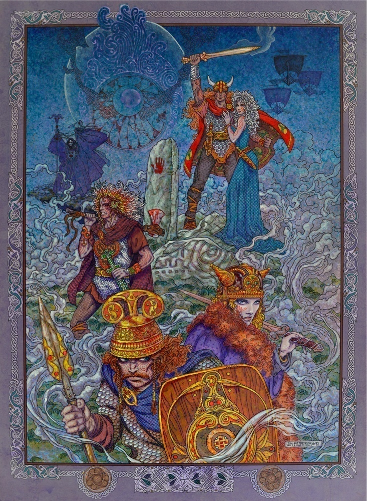 TWILIGHT OF THE GODS Jim FitzPatrick - Irish legends