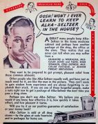 1942 alka-seltzer advertisement - possibly one of Charles Burhans.