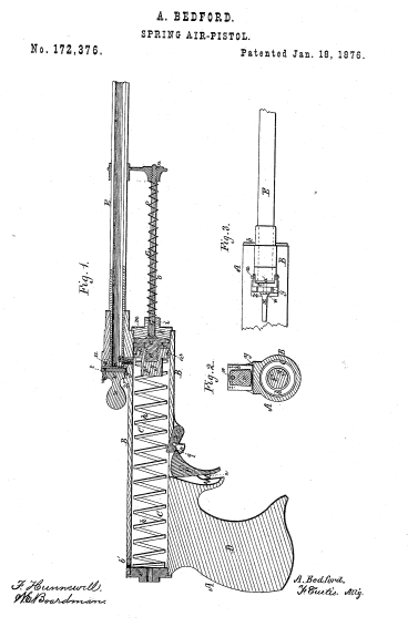 "Bedford's ""Improved"" Air Pistol Patent"