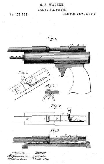 Walker's Breech Bolt Patent
