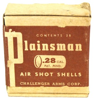 "A pack of ""air shot shells"" for the Challenger Arms Plainsman air shotgun."