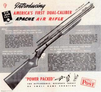 Dual calibre Apache air rifle advertisement. [3]