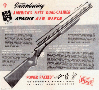 Dual calibre Apache air rifle advertisement. [3]