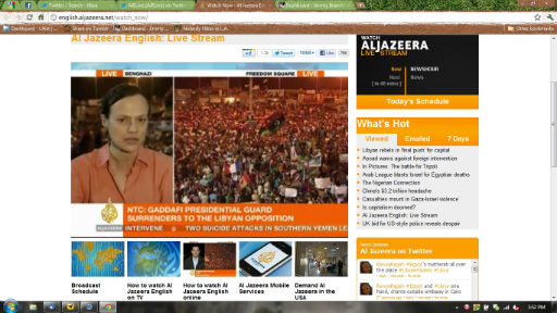 The Fall of Gaddafi via Al-Jazeera English
