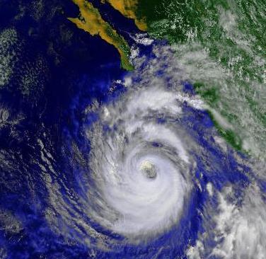Hurricane Nora in 1997