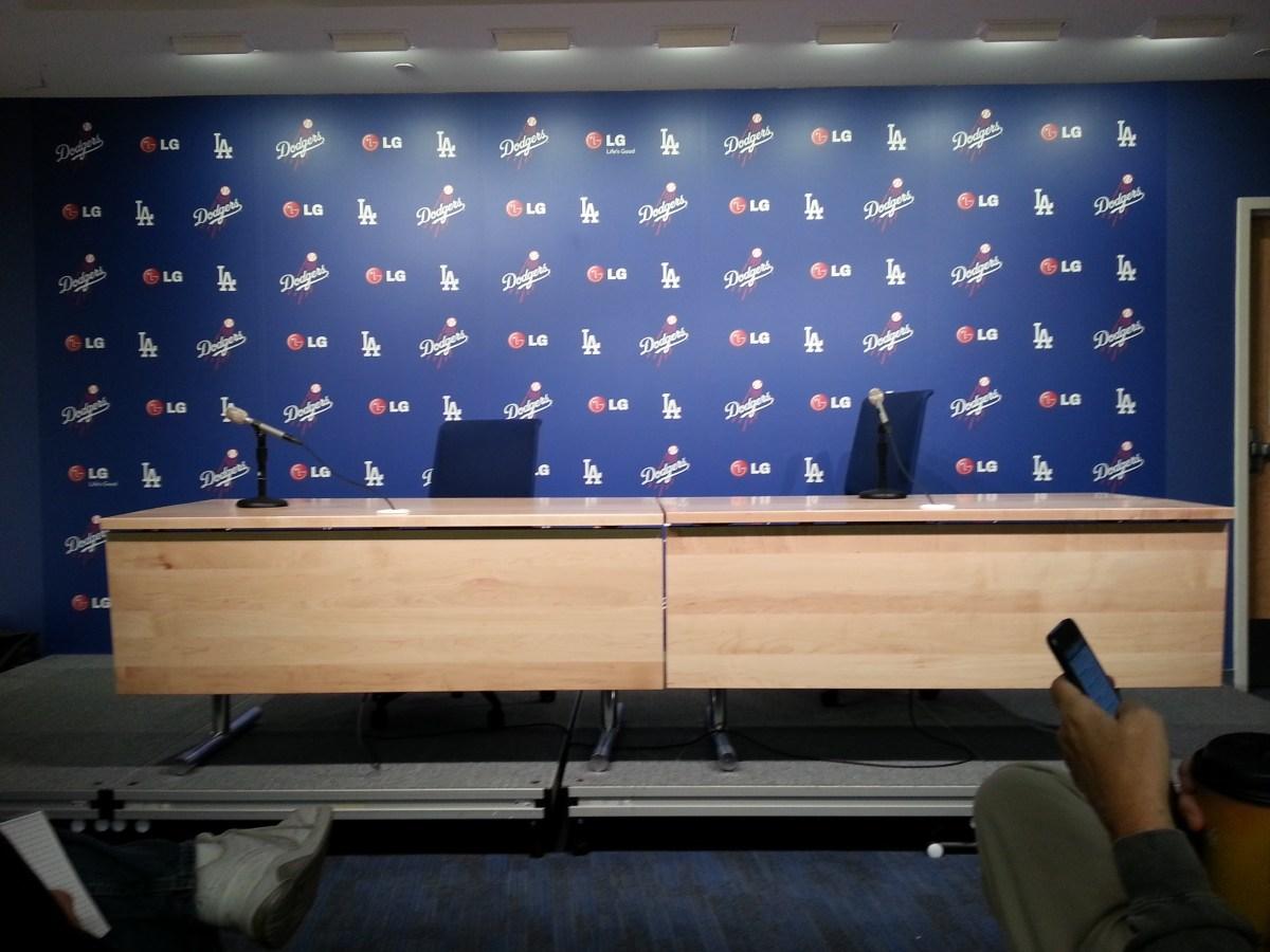 Dodgers Interview Room