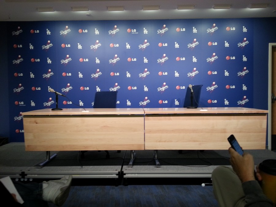 Dodgers Interview Room