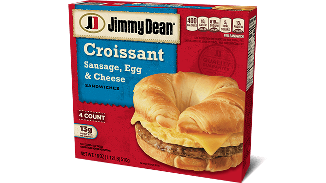 sausage egg cheese croissant sandwiches