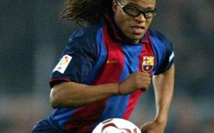 Edgar Davids i Barça-trøjen i 2004.