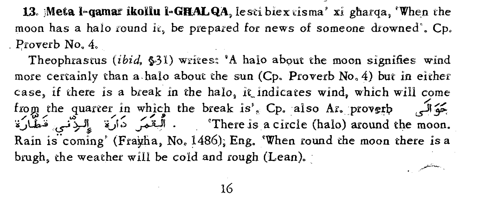 MALTESE METEOROLOGICAL AND AGRICULTUR~L PROVERBS By .J. AQUILINA