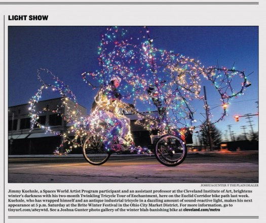 Photo of Jimmy Kuehnle's Twinkling Tricycle Tour by Plain Dealer photographer Joshua Gunter