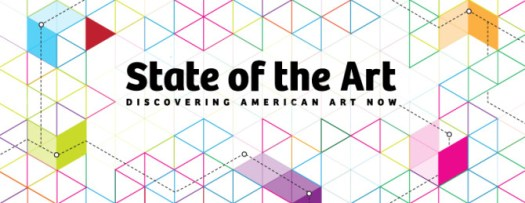 Logo for contemporary American art exhibition at Crystal Bridges Museum called State of the Art: Discovering American Art Now