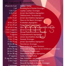 Activiteitenkalender zomer 2016 Jimmy's