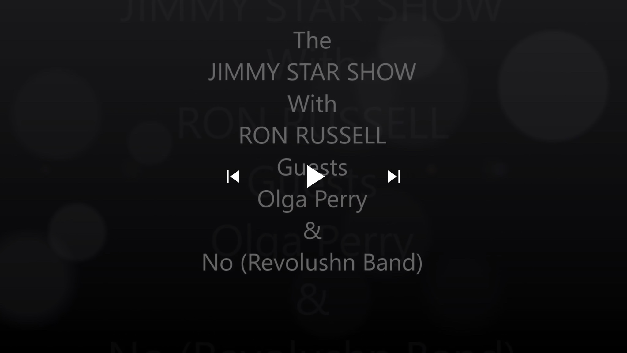 #Episode #Artist #Rock Star Olga Perry & No from #Psyche #Rock #Band Revolushn @RevolushnBand | The Jimmy Star Show with Ron Russell, Wednesday, October 17, 2018 #jimmystarshow