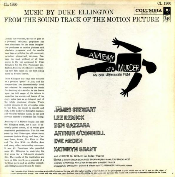 Anatomy Of A Murder Soundtrack Part 1 Jimmy Stewart On The Air
