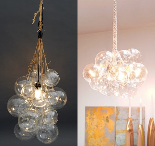Great DIY Globe Cluster Chandelier esque Fixtures