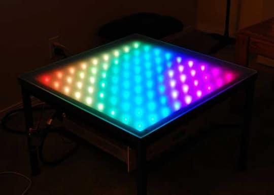 RGB LED table