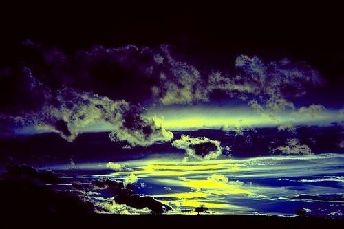 deep blue - Sonnenuntergang in Assamstadt