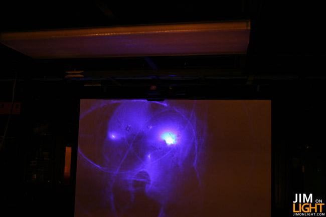 in Rick's laser studio - laser FX a la Rick