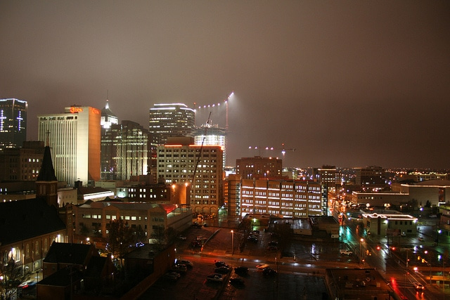 hazy shade of downtown