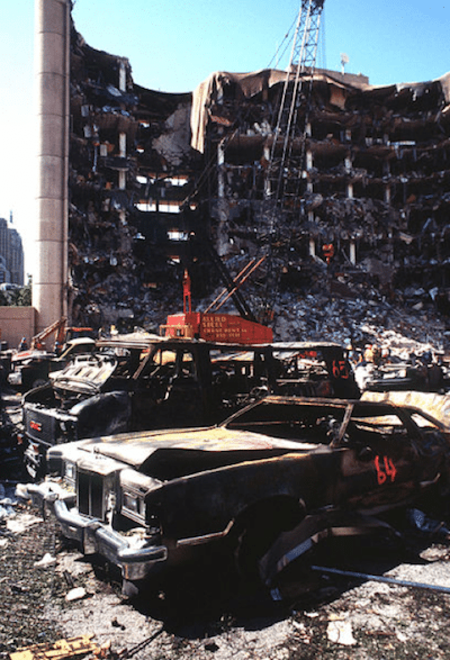 the Murrah Building, two days after the explosion.