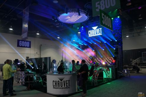 The CHAUVET Professional booth