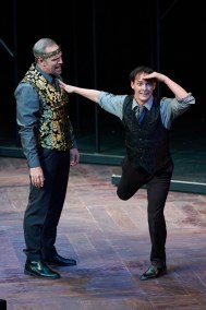 Michael James Reed, Jim Poulos, Ross Cowan - Hamlet by William Shakespeare presented by Repertory Theater of St. Louis on Oct 10, 2017. Photo: Peter Wochniak