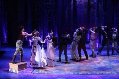 Full Company - A Midsummer Night's Dream at Repertory Theatre of St. Louis 2014: Director: Paul Barnes, Set Design: James Kronzer, Costume Design: Susan Branch Towne, Lighting Design: Lonnie Rafael Alcaraz, Choreographer: Matt Williams, All Photos: ©Photo by Jerry Naunheim Jr.