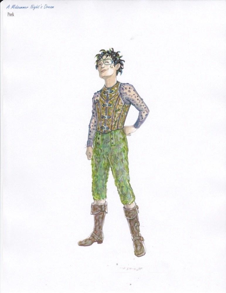 Puck - A Midsummer Night's Dream at Repertory Theatre of St. Louis 2014: Director: Paul Barnes, Costume Design: Susan Branch Towne
