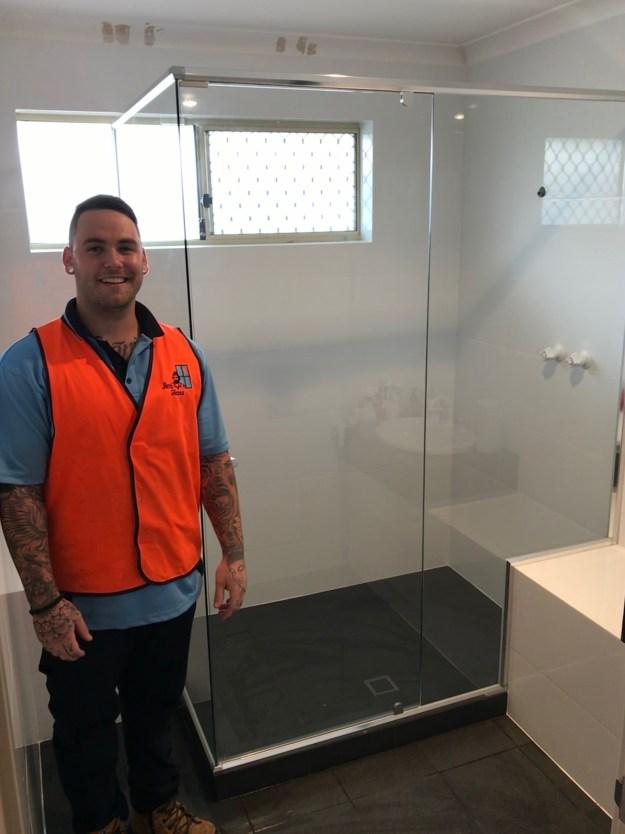 Billy-Custom-double2 Custom Double Semi-Frameless shower screen in Orelia in Perth