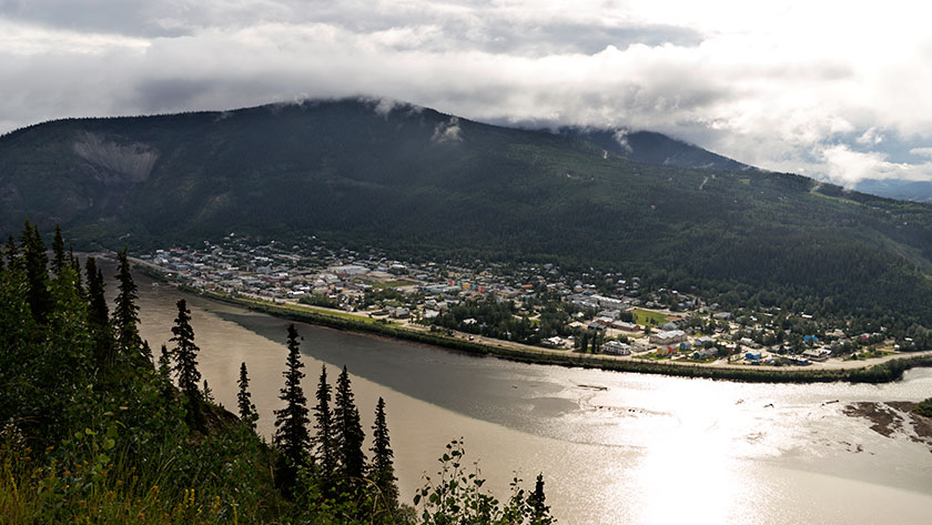 Dawson City from the Top of the World