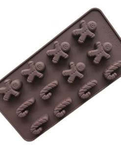 Vedini 15 Cavity Christmas Tree and Gift Box Shape Silicone Chocolate Mold