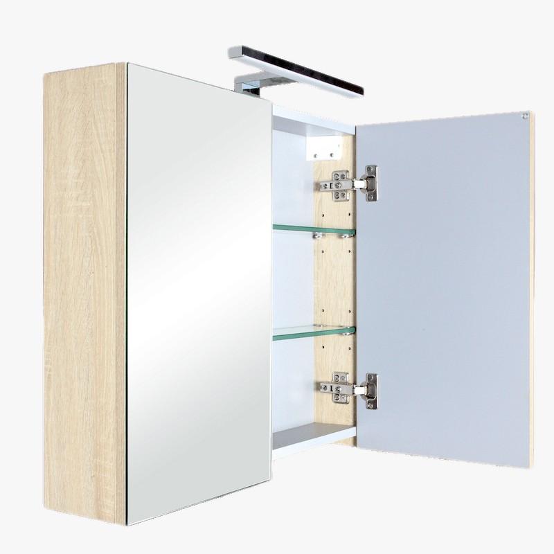 Aquazur Meuble Salle De Bain Haut Double Miroir Avec Led 60cm