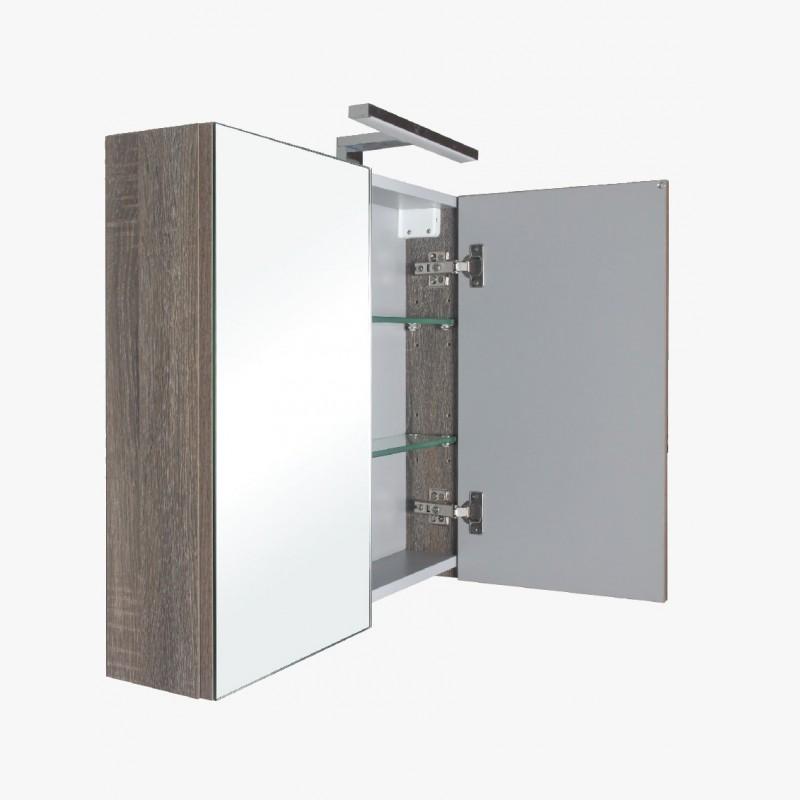 Aquasun Meuble Salle De Bain Haut Double Miroir Avec Led 80cm Gris