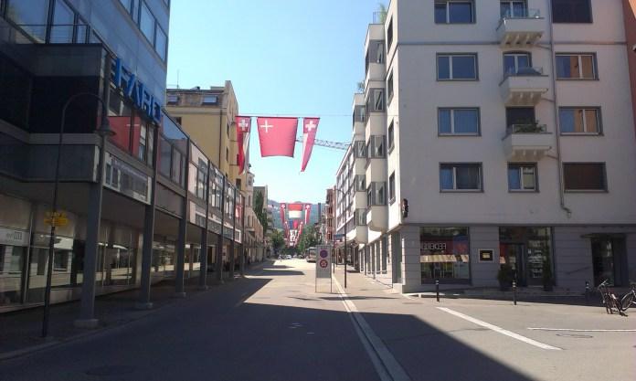Příjezd po Bodamském jezeru do města švýcarského Rorschach