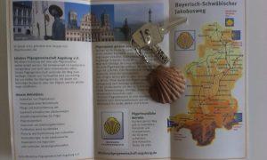 Brožurka k pouti bavorským Švábskem do Santiaga