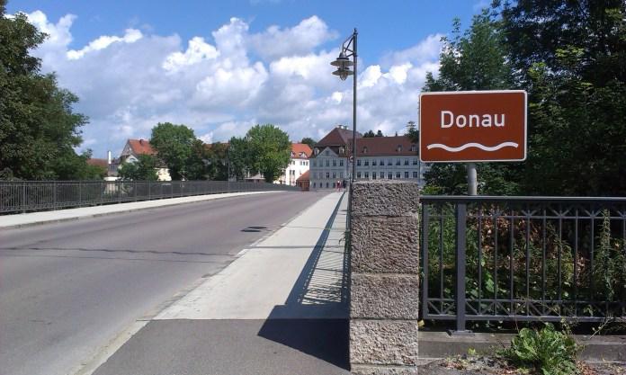 Most přes řeku Dunaj v Donauworth
